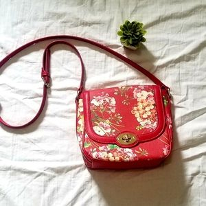 Red Floral Crossbody